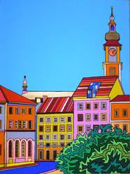 Linz Pfarrplatz by Evilpainter