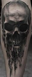dripping skull by strangeris