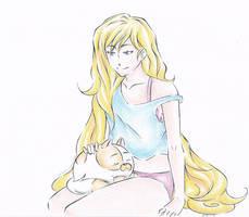 Fionna and Cake by ghost-youkai