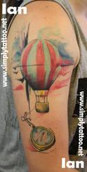 Hot air balloon - healed by SimplyTattoo