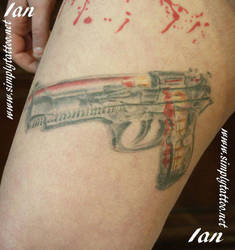 gun section cut - healed by SimplyTattoo