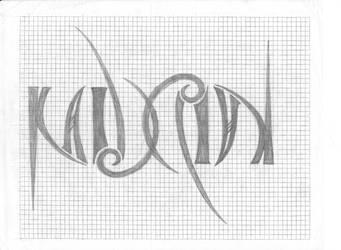 Ambigram (sketch) by Kaidrin1