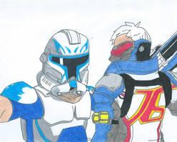 Captain Rex Vs Soldier 76 by Bluexorcist93