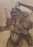 Space Godzilla.. by GwarBeast