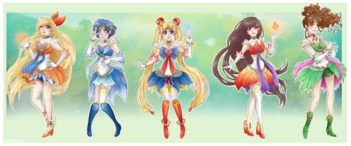 :Sailor Moon: fantasy sailor scouts by MMtheMayo