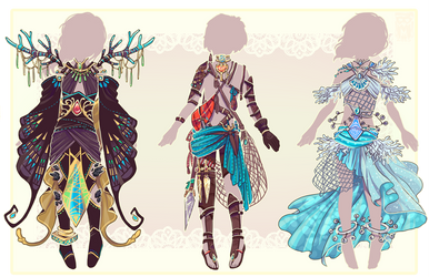 :Comm: outfits for Wintryabyss :set01: by MMtheMayo