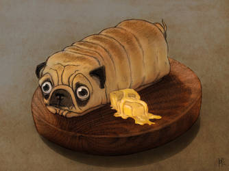 No dog you're not a loaf of bread by HanKai