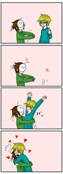 Trick Hug - Pewds and Cry by Kyun-Sein