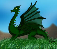 Green Dragon by Kitsune-Fox17