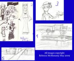 Seattle Drawings One by Kitsune-Fox17