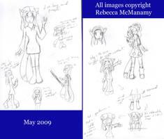 May - June Drawings 1 by Kitsune-Fox17