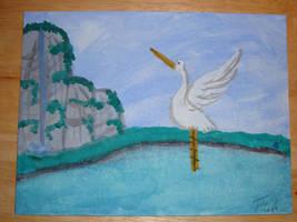 The Mountain Crane by Kitsune-Fox17