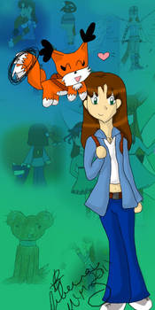 Foxinmon and Becca - FDD 10 Yr by Kitsune-Fox17
