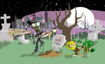 Plants VS. Zombie - Selfie Scene by Malfuriion