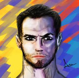 Cybercolor Self Portrait by Malfuriion