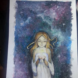 Mixed Media:: Little Angel by Space-Miilk