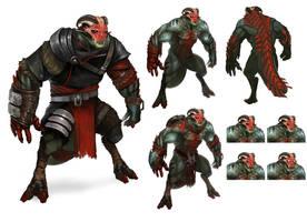 Demon soldier variation by DavidAlvarezArt