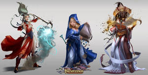 Pathfinder Roleplaying Game: Unchained /// Women by DavidAlvarezArt