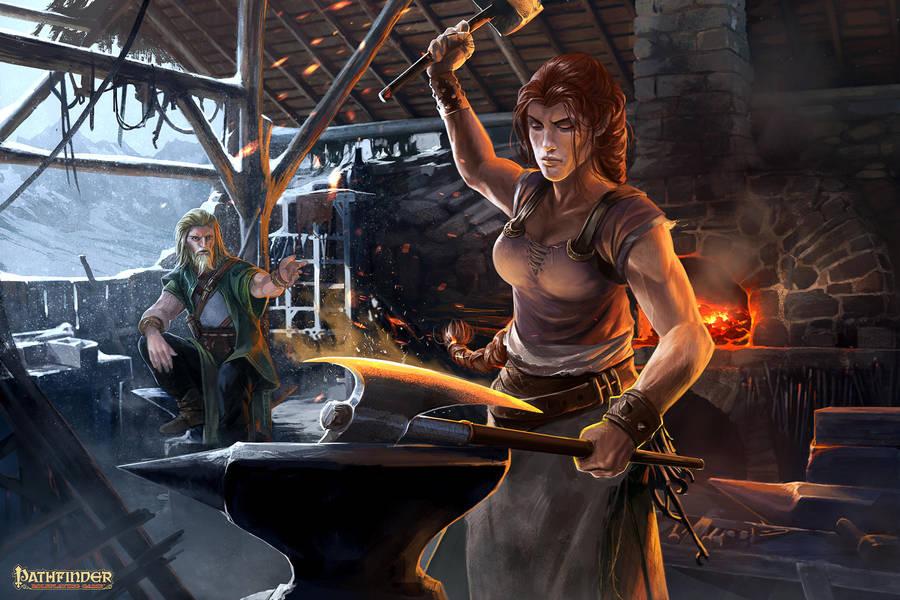 Pathfinder Unchained : CraftingWorkshop by DavidAlvarezArt