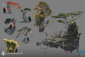 Trees Vis Dev - Shardbound by DavidAlvarezArt