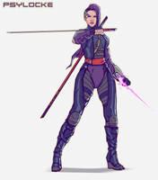 Cyber Psylocke by DavidAlvarezArt