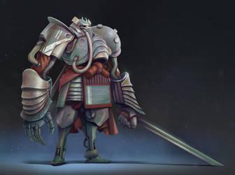Samurai war golem by DavidAlvarezArt