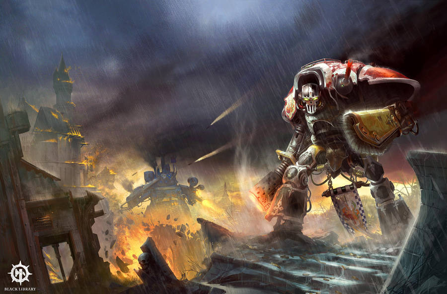 Knightsblade - Blacklibrary cover by DavidAlvarezArt