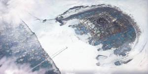 Arctic city / Arrival by DavidAlvarezArt