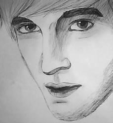 Tom Felton in pen by AlyssiaJayde