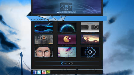 Personal website design concep by HellHoundx666