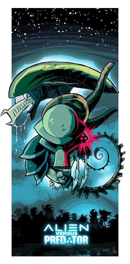 Alien Vs. Predator by ivewhiz