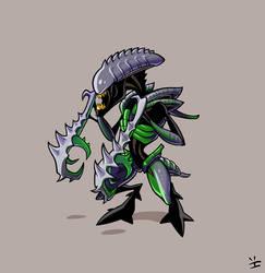 Xenomorph Roster: Mantis Alien by ivewhiz