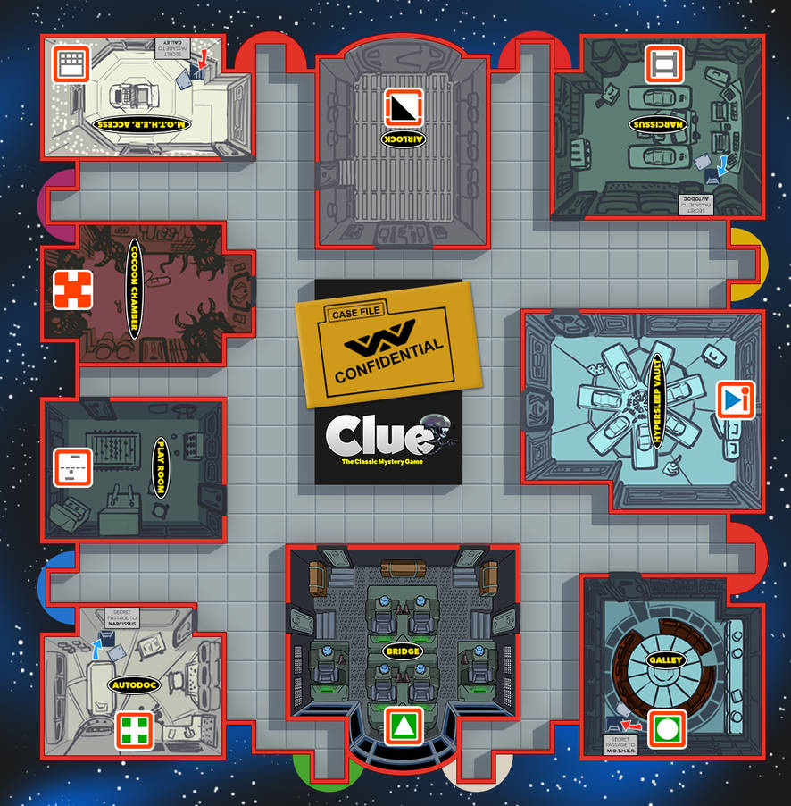 ALIEN Clue (Board, rough) by ivewhiz