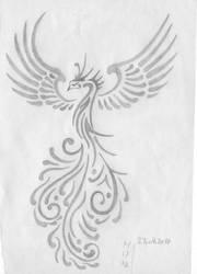 Tribal Phoenix by sakurayukichan2001