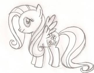Fluttershy Sketch by SnowFox4