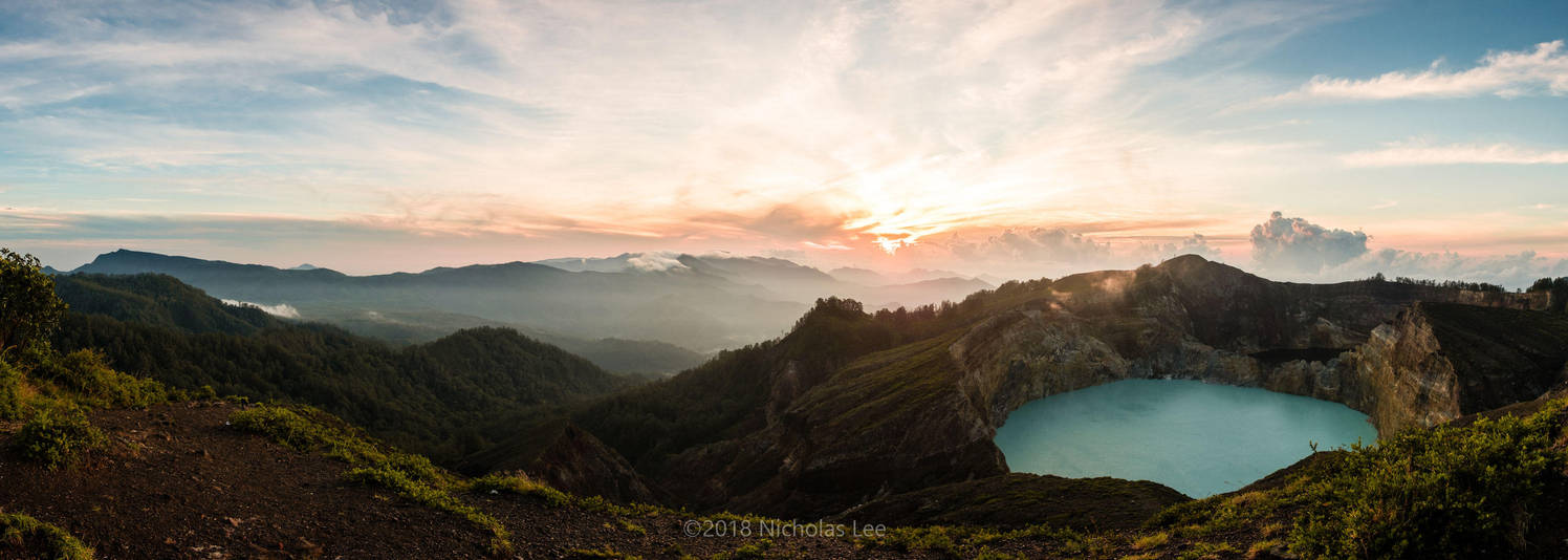 Sunrise over Kelimutu by furryphotos
