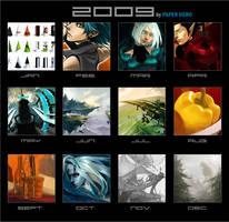 Art Summary 2009 by paper-hero