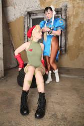 Chun-Li and Cammy Cosplay photograph by Elin-Kuzunoha