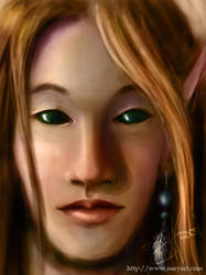 Dark-eyed elf by Giledhel-Narya