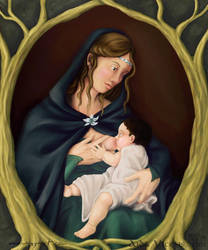 Mother and Child by Giledhel-Narya