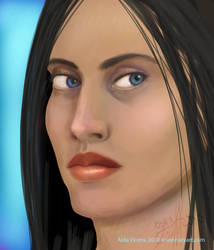 A lady's face by Giledhel-Narya