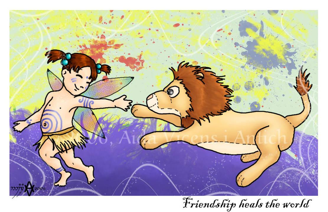Friendship heals the world by Giledhel-Narya