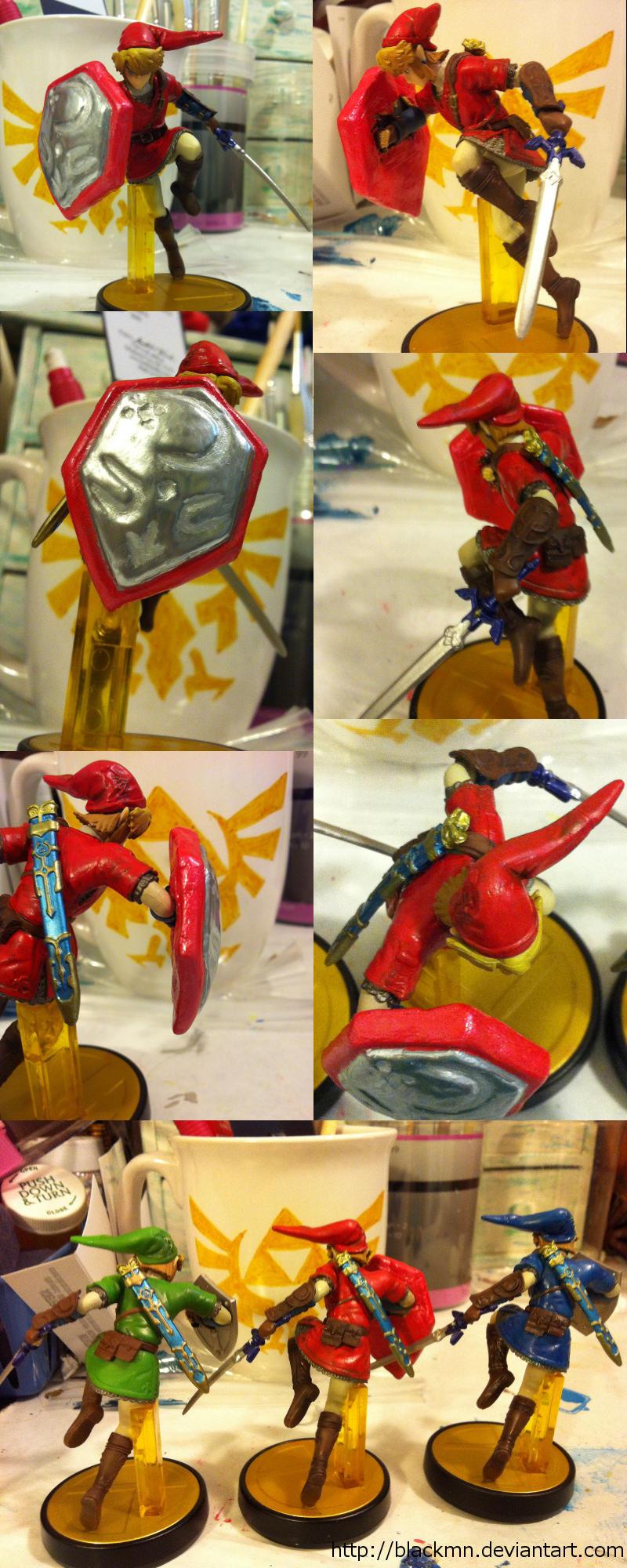 Goron Tunic With Mirror Shield Link Custom Amiibo By Blackmn On