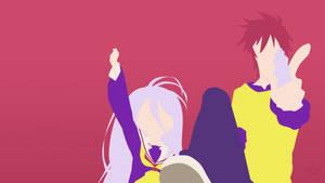 Shiro + Sora (No Game No Life) by Klikster