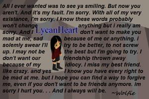 To a friend by LoneWolf0223
