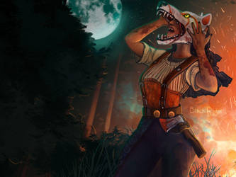 Huntress werewolf by Na1t