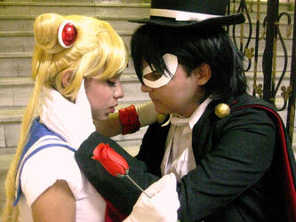 Sailor Moon and Tuxedo Mask Cosplay by Kathepro