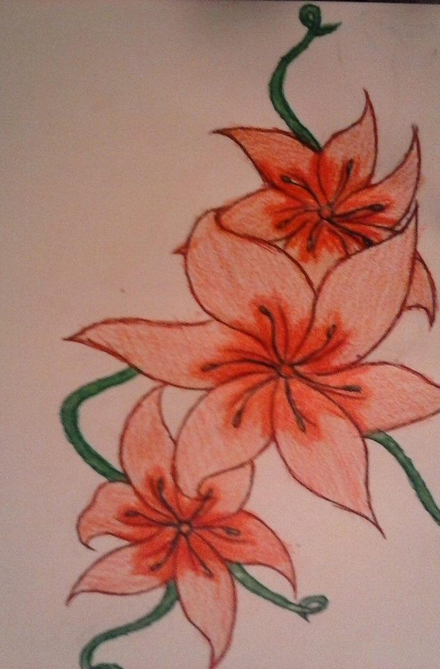 Pretty Flower Drawing Of Mine D By Celestieldelinquent On Deviantart