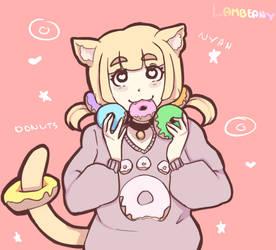 Donut Cat by Lambeany