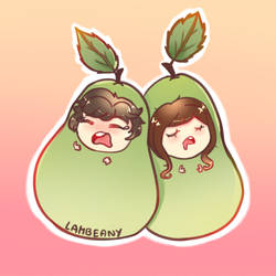 Pair of Pears by Lambeany
